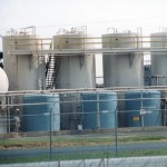 Sandblast-Painted Chemical Storage Tanks