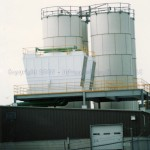 Sandblast-Painted Cooling Towers