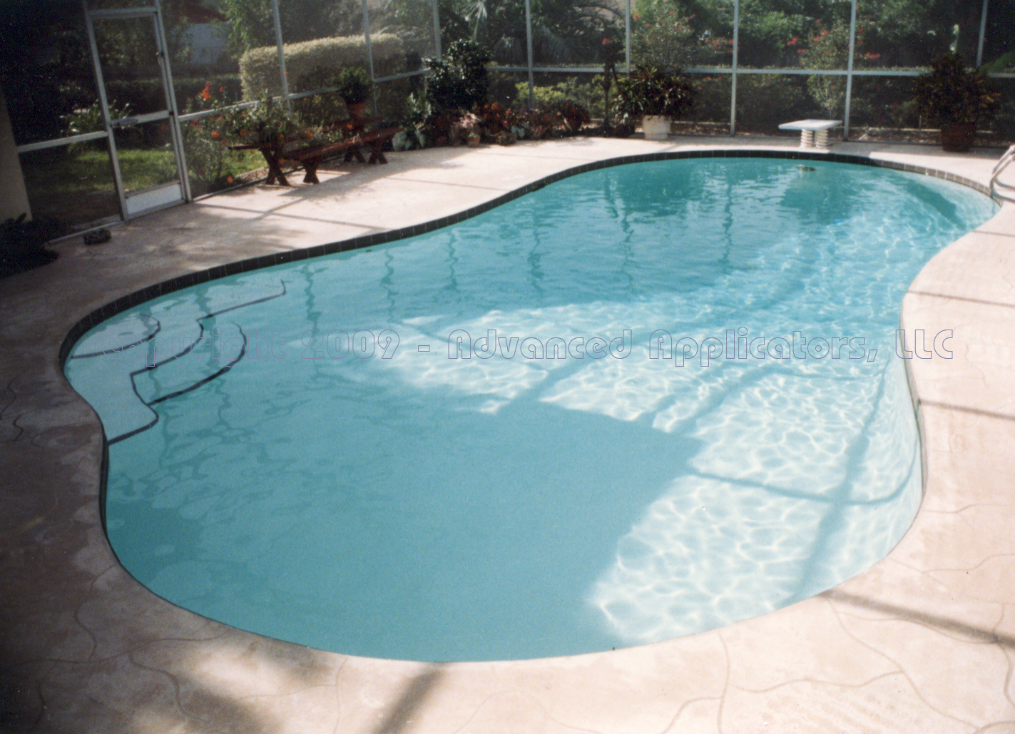 advanced applicators llc swimming pools